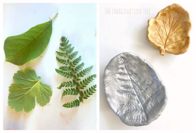 How to make clay leaf print art