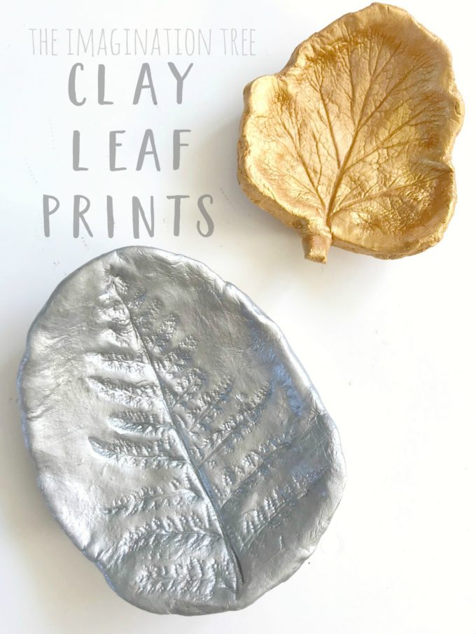 Beautiful clay leaf print art activity!