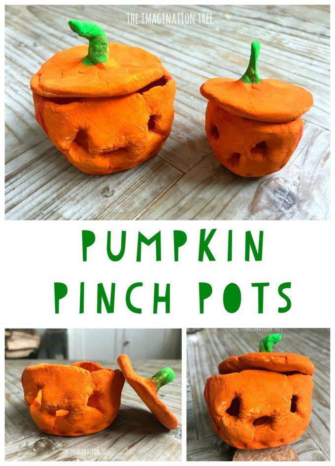 Gorgeous Pumpkin Pinch Pots Craft!