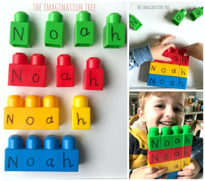 Building Blocks Name Game