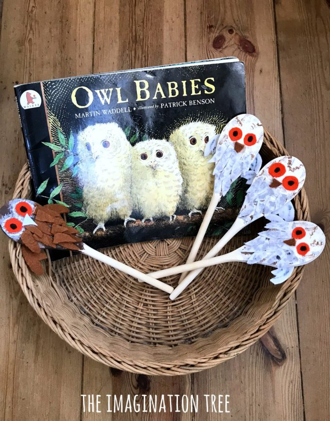 Owl Babies Story Spoons