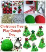 Christmas Tree Play Dough Tray