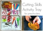 Fine Motor Skills Cutting Tray
