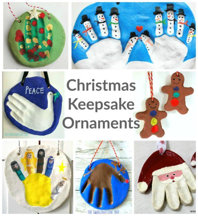 Christmas Salt Dough Ornament Keepsakes