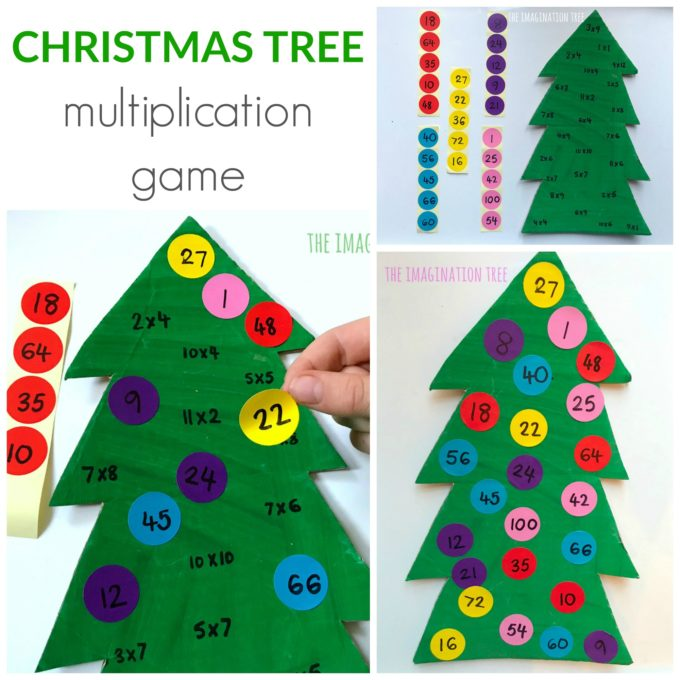Christmas Tree Multiplication Game