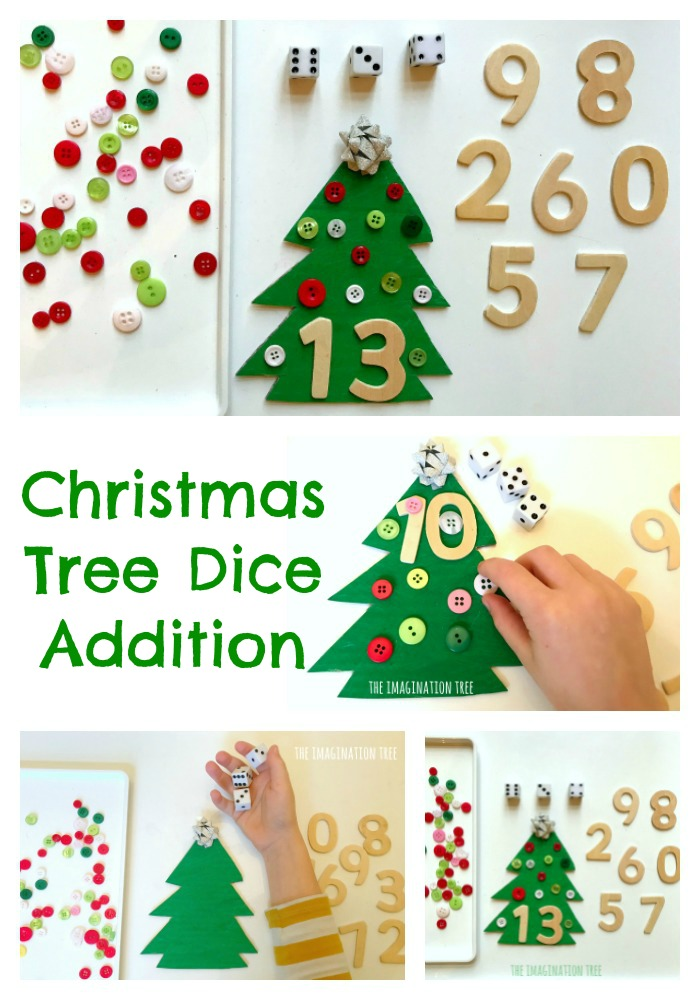 Christmas Tree Addition Game The Imagination Tree