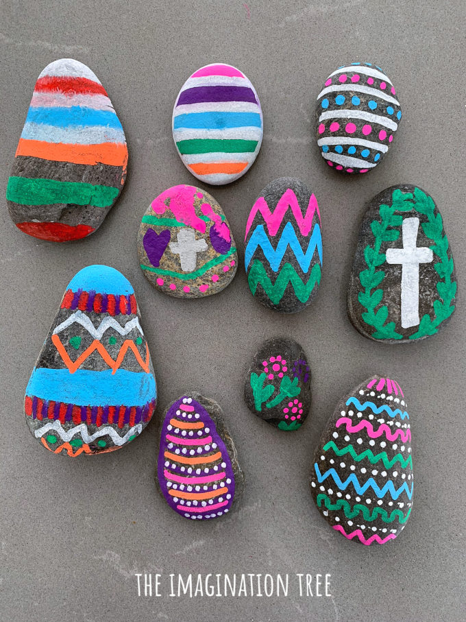 Easter Egg Pebble Craft for Kids