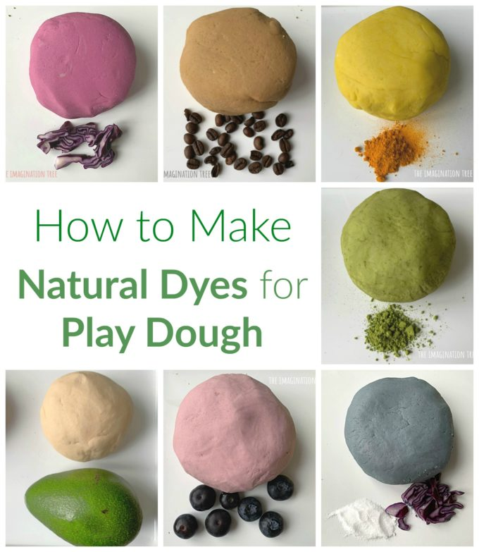 How to make natural dyes for play dough