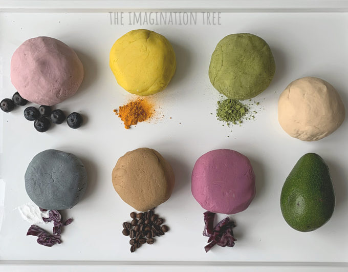 Make natural dyes for play dough