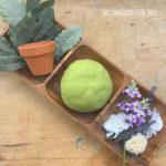Matcha Green Tea Play Dough