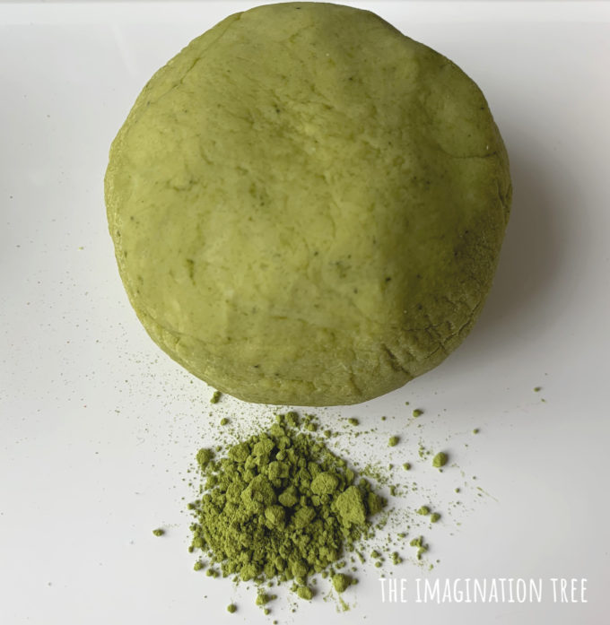 Matcha Green Tea Natural Dyes for Play Dough