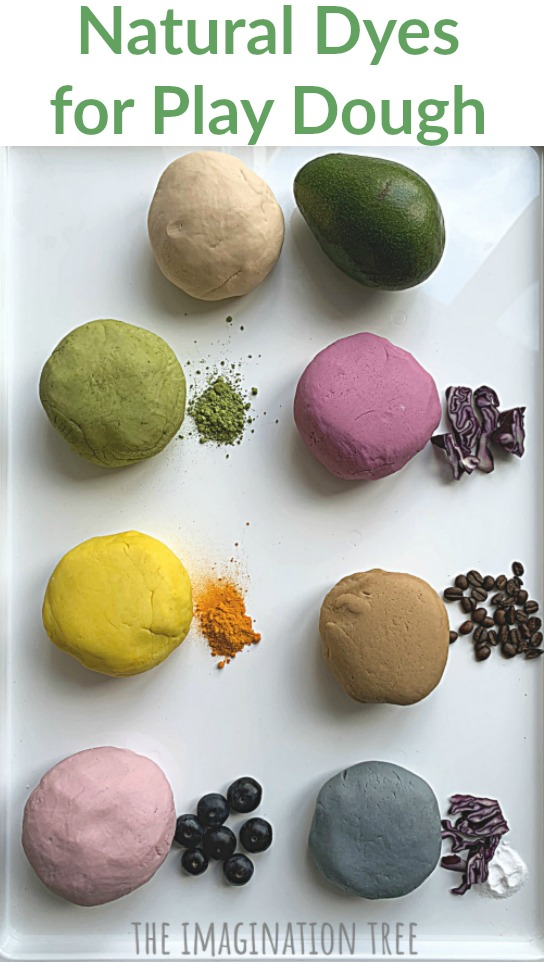 Natural Dyes for Play Dough