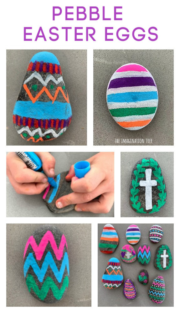 Easter Egg Pebble Craft for Spring