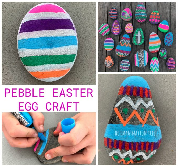 Easter Egg Pebble Craft