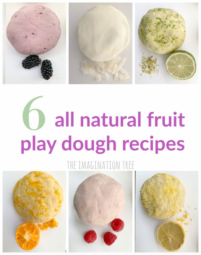 How to make natural fruit play dough recipes