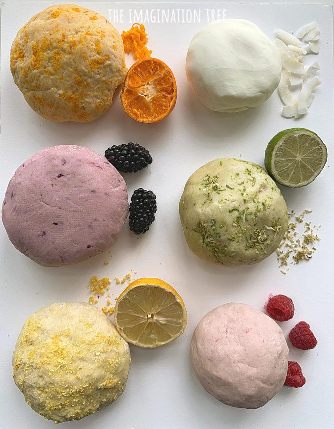 Natural Fruit Play Dough Recipes
