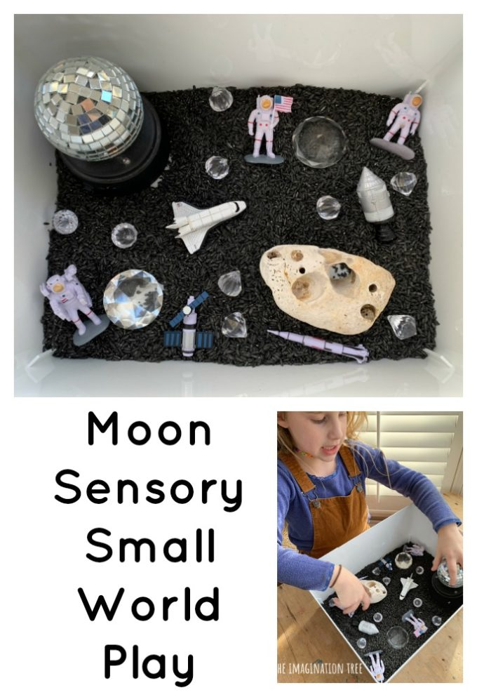 Space themed small world play for kids!