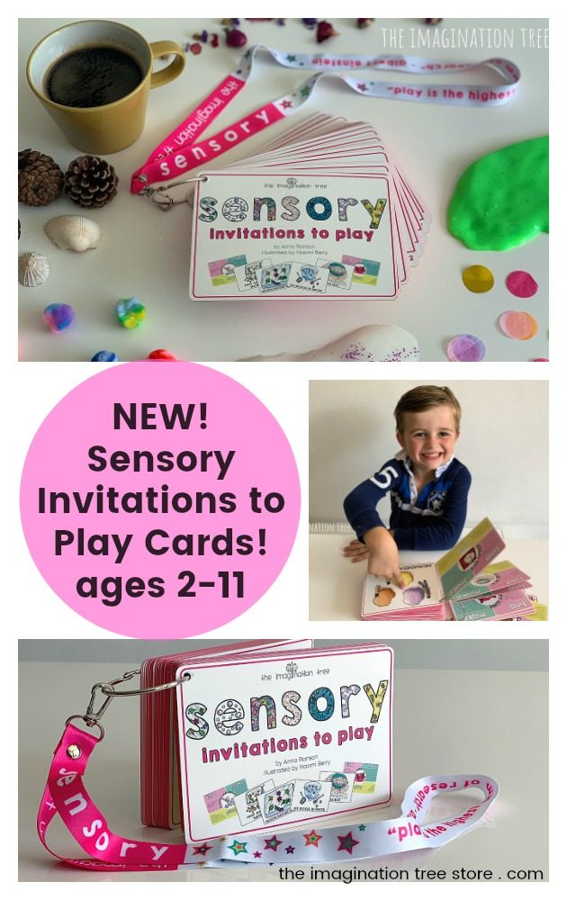 Sensory invitations to play cards