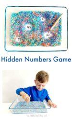 Hidden Numbers Game for Preschoolers