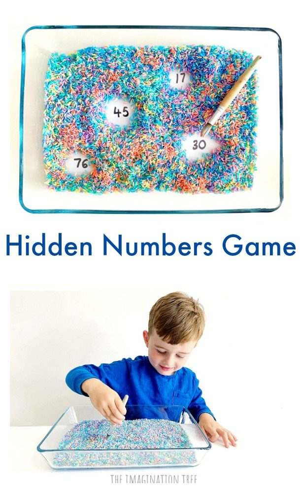 Hidden Numbers Game for Preschoolers