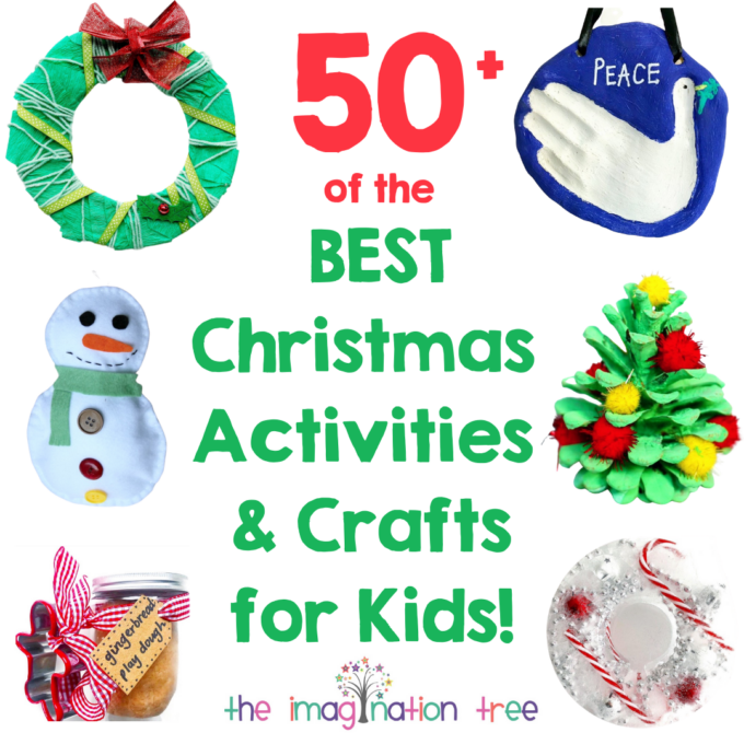Best Ever Christmas Crafts and Activities for Kids! More than 50 Ideas to keep you busy with the kids this season.