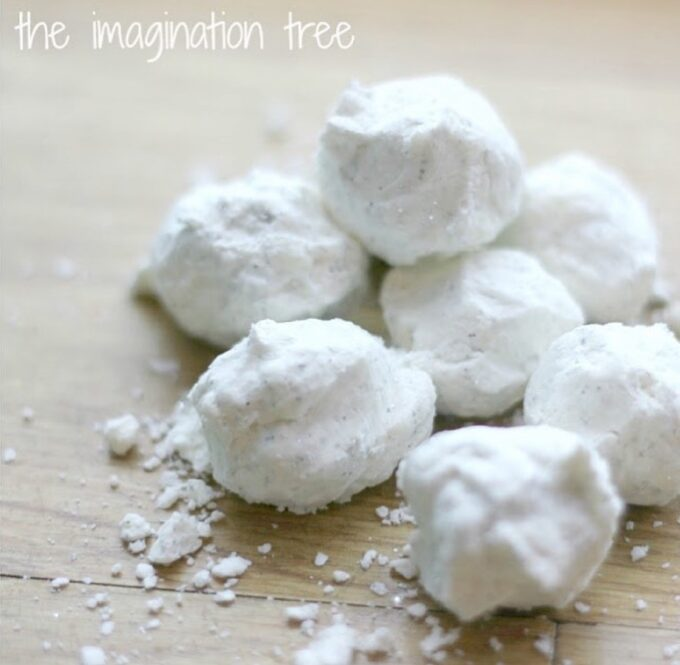 2 Ingredient Snow Dough- The Imagination Tree