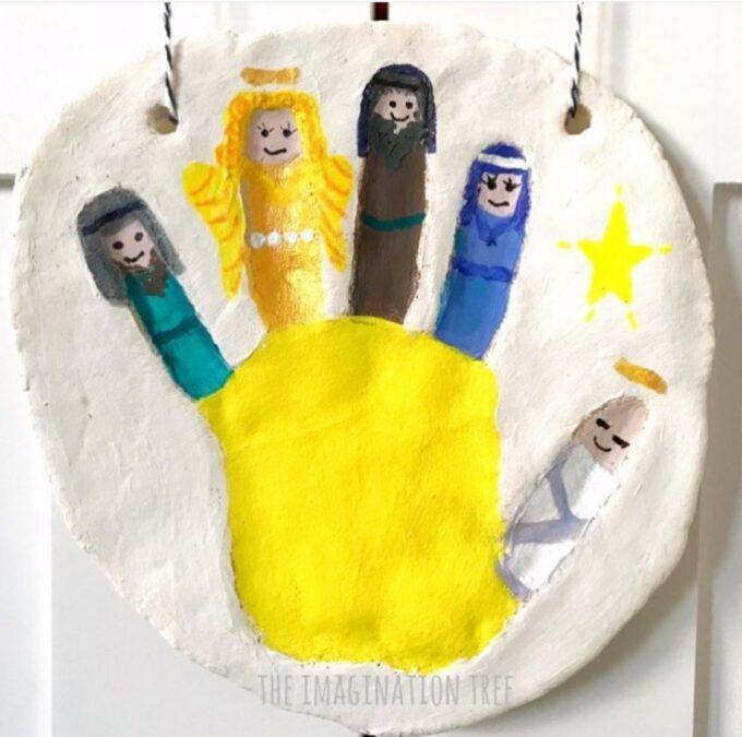 Handprint nativity alt dough keepsake